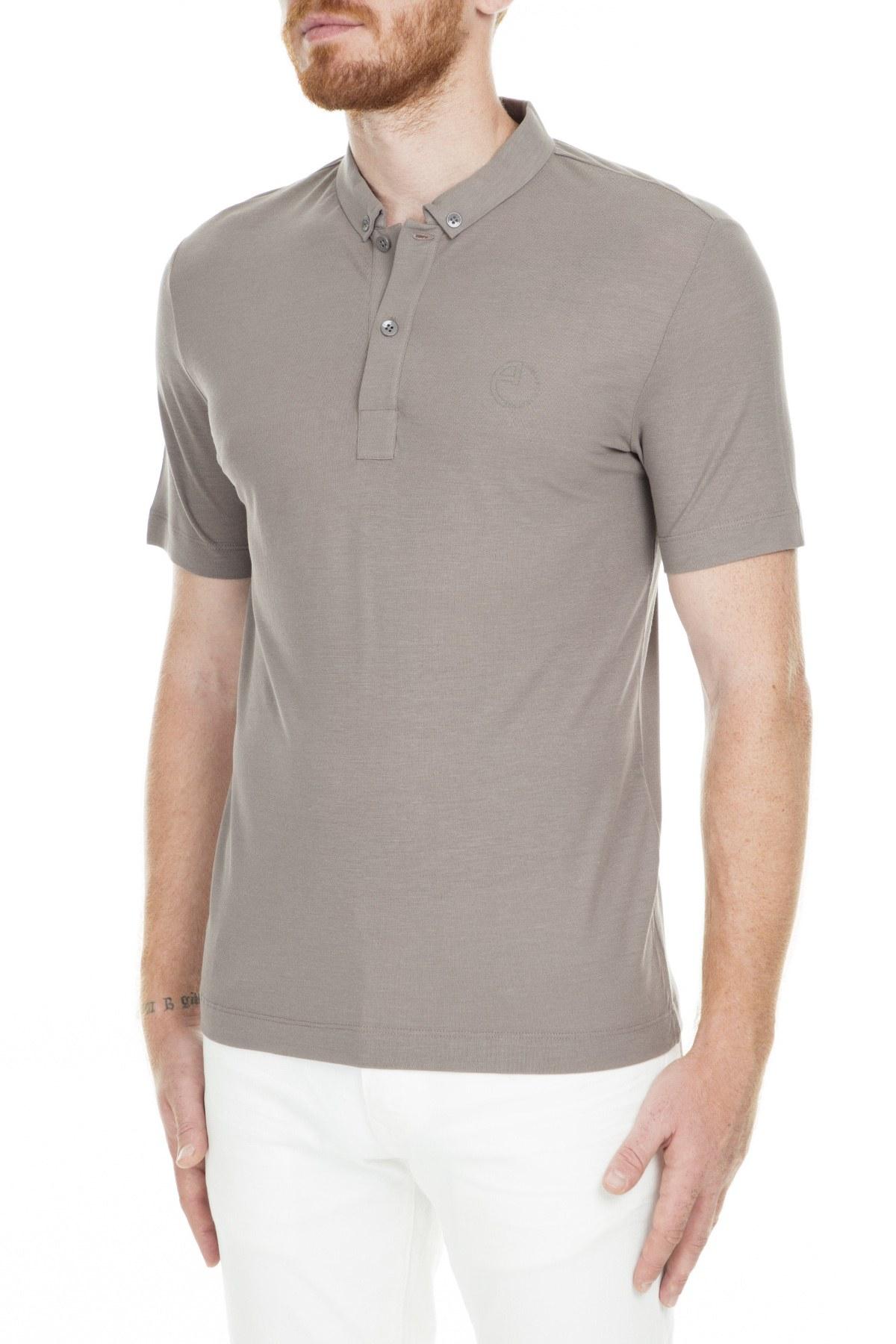 Armani Collezioni Erkek T Shirt 3XCF63 CJXYZ C0461 BEJ
