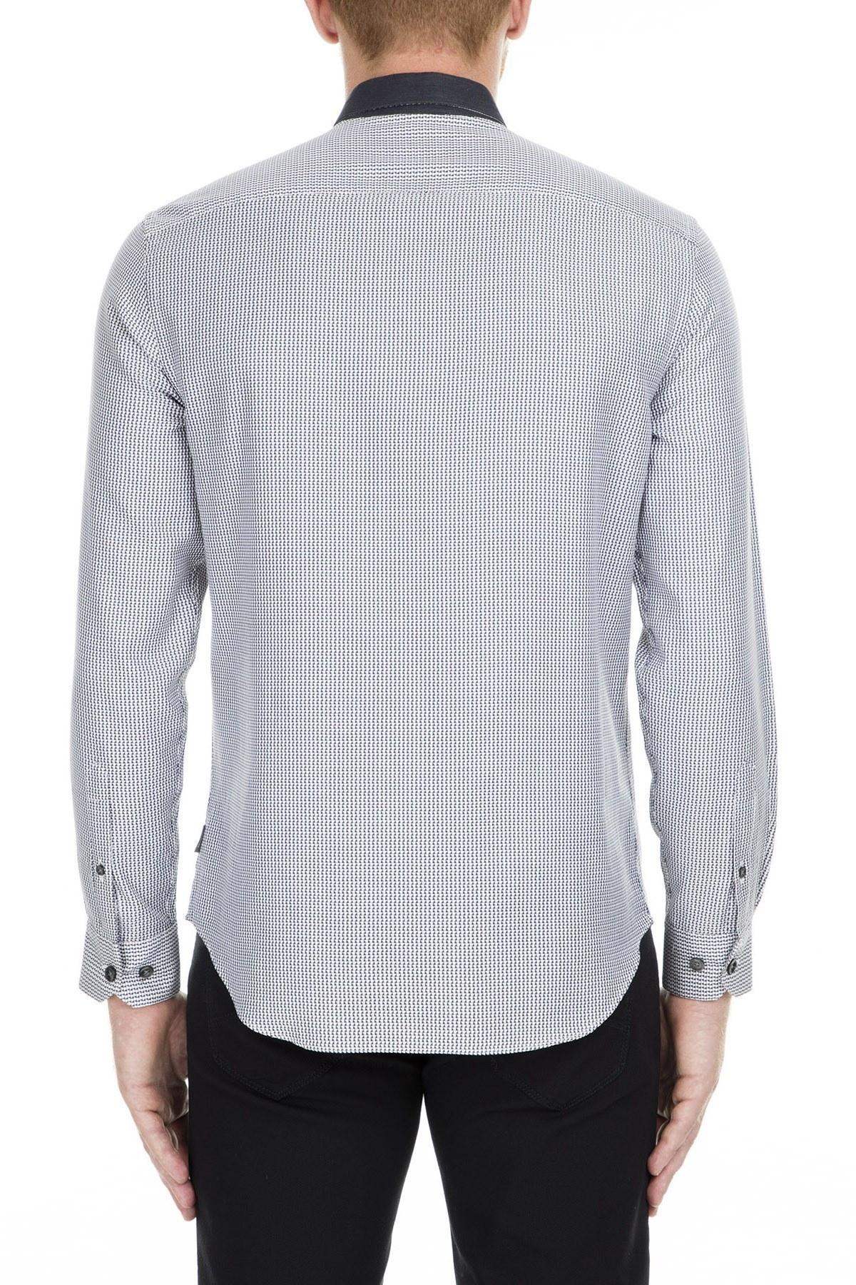 Armani Collezioni Gömlek Erkek Uk Gömlek PCSMQT PC6F7 C042 LACİVERT
