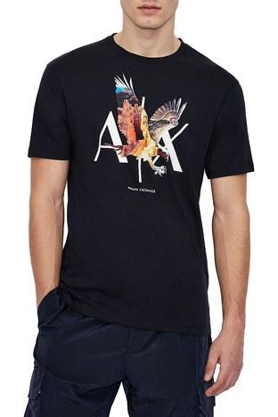 Armani Exchange - Armani Exchange Erkek T Shirt 3KZTNE ZJH4Z 1510 LACİVERT