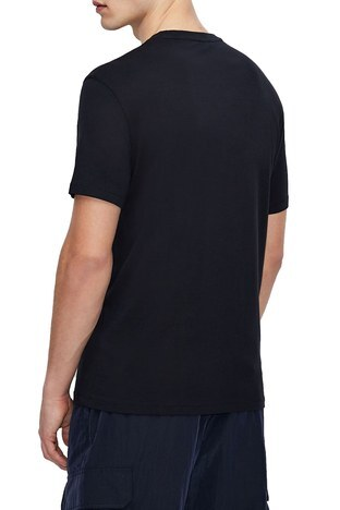 Armani Exchange - Armani Exchange Erkek T Shirt 3KZTNE ZJH4Z 1510 LACİVERT (1)
