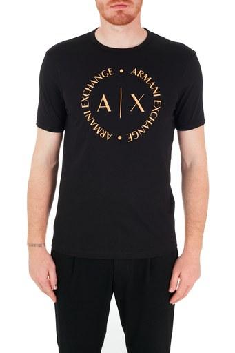 Armani Exchange % 100 Pamuk Bisiklet Yaka Erkek T Shirt 8NZTCC Z8H4Z 7273 SİYAH