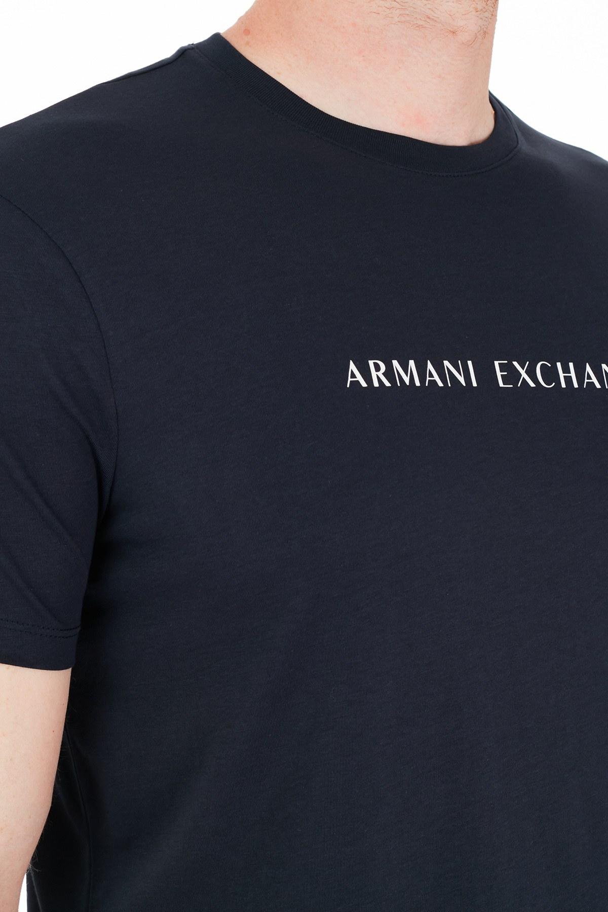 Armani Exchange Erkek T Shirt 3KZTGQ ZJH4Z 1510 LACİVERT