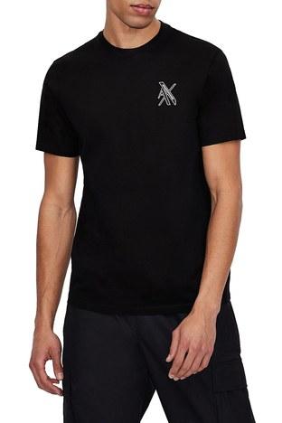 Armani Exchange - Armani Exchange Erkek T Shirt 3KZTLD ZJ9AZ 1200 SİYAH