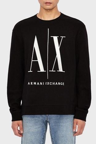 Armani Exchange - Armani Exchange % 100 Pamuklu Baskılı Bisiklet Yaka Erkek Sweat 8NZMPA ZJ1ZZ 1200 SİYAH