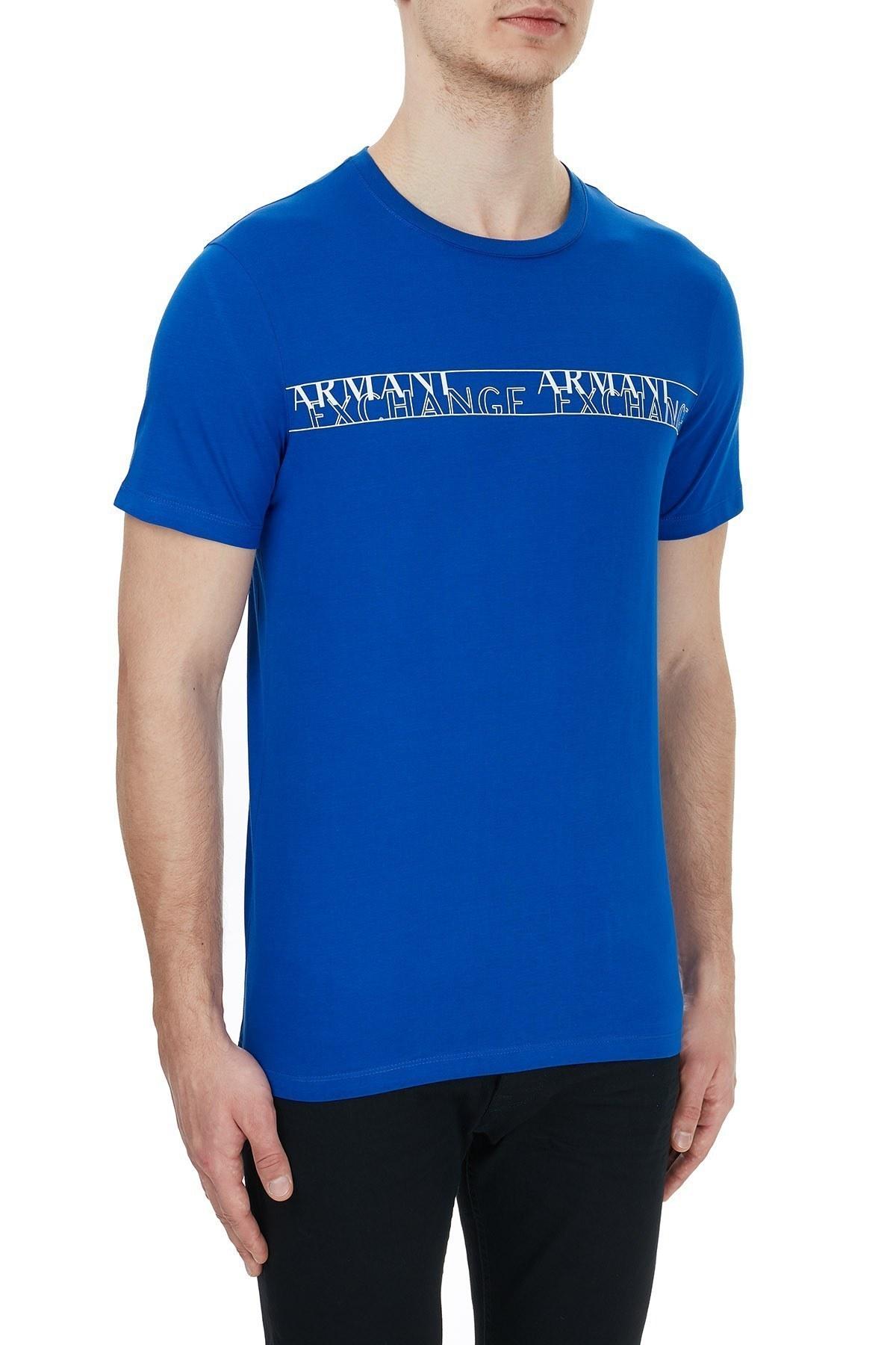 Armani Exchange % 100 Pamuklu Baskılı Bisiklet Yaka Erkek T Shirt 6HZTFC ZJBVZ 1506 SAKS