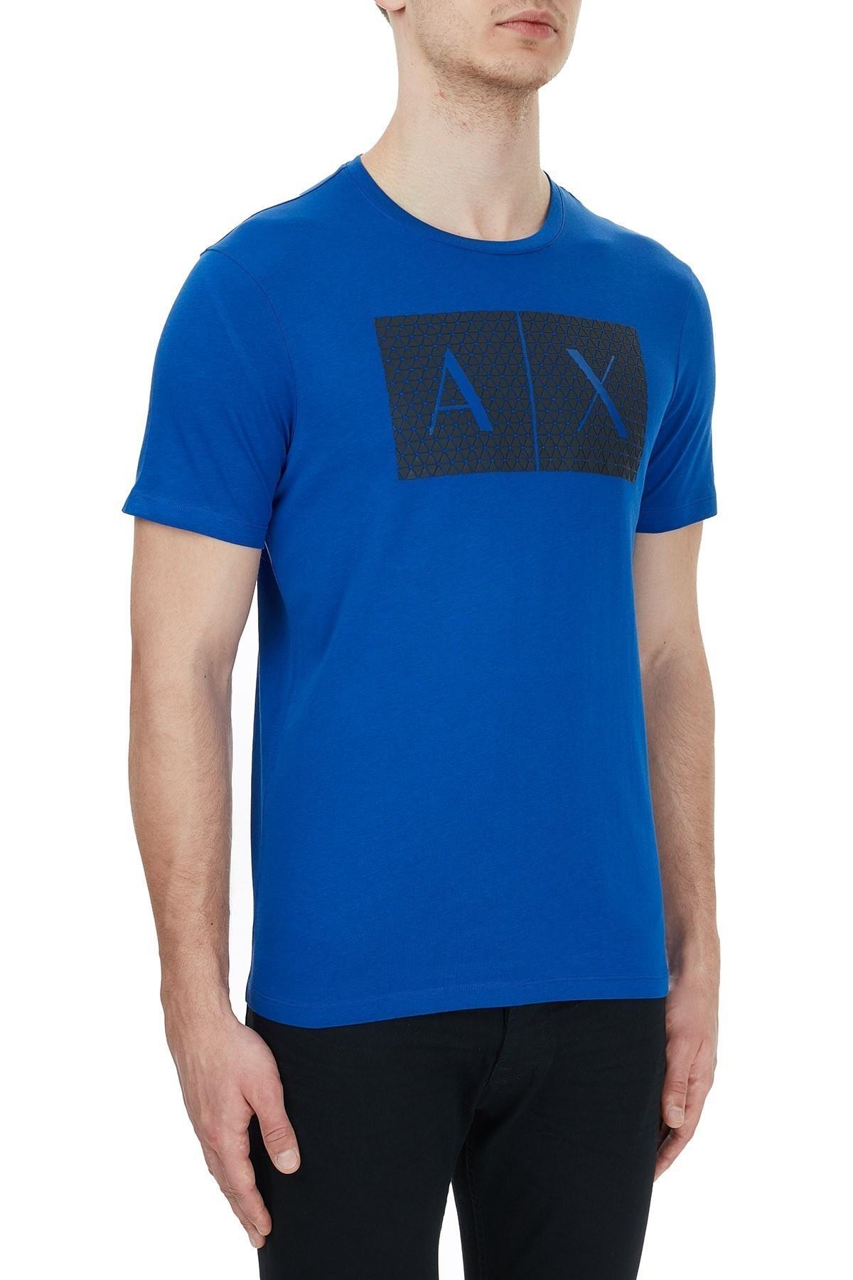 Armani Exchange % 100 Pamuklu Baskılı Bisiklet Yaka Erkek T Shirt 8NZTCK Z8H4Z 1506 SAKS
