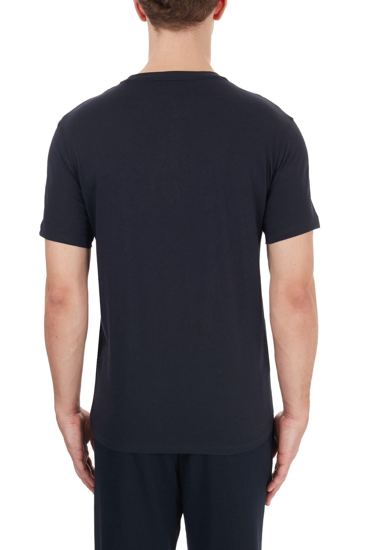 Armani Exchange % 100 Pamuklu Baskılı Bisiklet Yaka Regular Erkek T Shirt 6HZTFD ZJH4Z 1510 LACİVERT