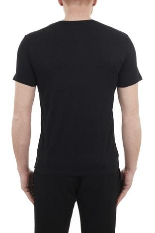 Armani Exchange - Armani Exchange % 100 Pamuklu Bisiklet Yaka Slim Fit Erkek T Shirt 3KZTAS ZJA5Z 1200 SİYAH (1)