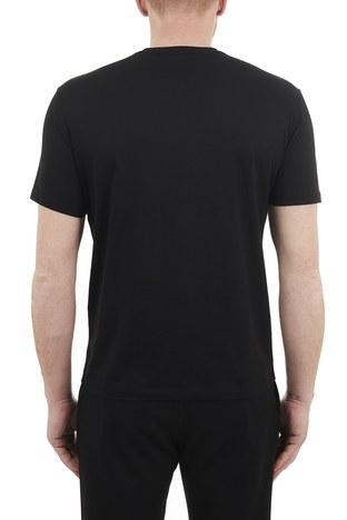 Armani Exchange - Armani Exchange % 100 Pamuklu Bisiklet Yaka Erkek T Shirt 3KZTEB ZJ9AZ 1200 SİYAH (1)