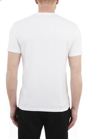 Armani Exchange - Armani Exchange % 100 Pamuklu Bisiklet Yaka Erkek T Shirt 3KZTFD ZJBVZ 1100 BEYAZ (1)