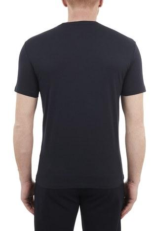 Armani Exchange - Armani Exchange % 100 Pamuklu Bisiklet Yaka Erkek T Shirt 3KZTFD ZJBVZ 1510 LACİVERT (1)