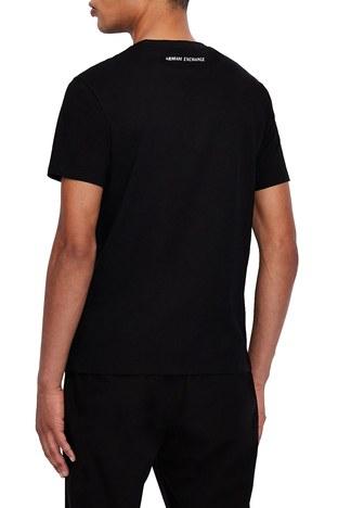Armani Exchange - Armani Exchange % 100 Pamuklu Bisiklet Yaka Erkek T Shirt 3KZTNA ZJ3DZ 9209 SİYAH (1)