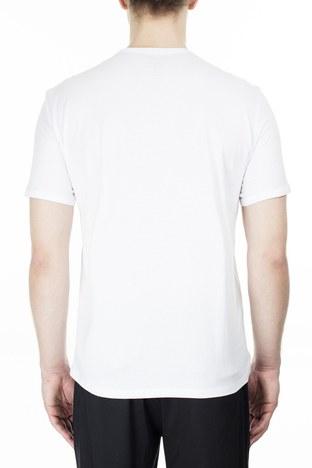 Armani Exchange - Armani Exchange % 100 Pamuklu Bisiklet Yaka Erkek T Shirt 8NZT76 Z8H4Z 1100 BEYAZ (1)