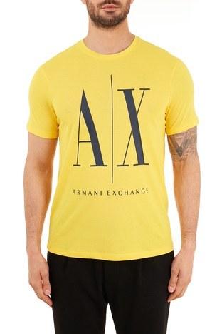 Armani Exchange - Armani Exchange % 100 Pamuklu Bisiklet Yaka Erkek T Shirt 8NZTPA ZJH4Z 1620 SARI