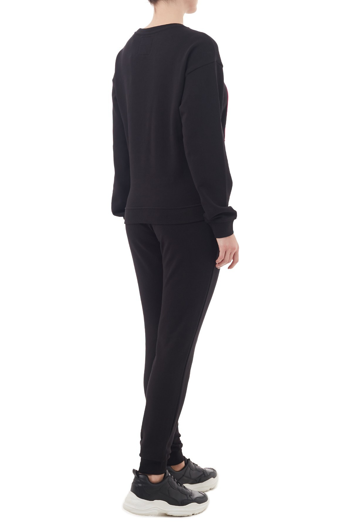 Armani Exchange % 100 Pamuklu Örme Jogger Kadın Eşofman Altı 8NYPCX YJ68Z 8219 SİYAH