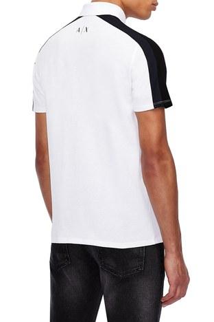 Armani Exchange - Armani Exchange % 100 Pamuklu T Shirt Erkek Polo 3KZFFW ZJM5Z 2135 BEYAZ (1)