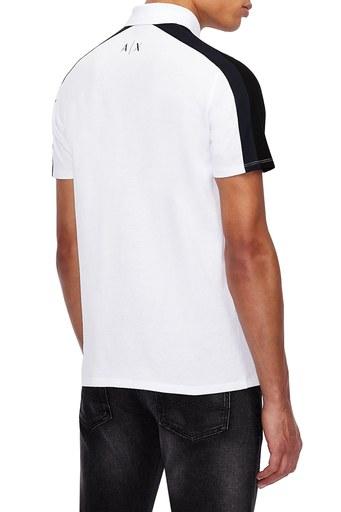 Armani Exchange % 100 Pamuklu T Shirt Erkek Polo 3KZFFW ZJM5Z 2135 BEYAZ