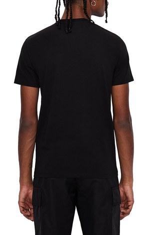 Armani Exchange - Armani Exchange % 100 Pamuklu V Yaka Slim Fit Erkek T Shirt 3KZTAU ZJ3QZ 1200 SİYAH (1)