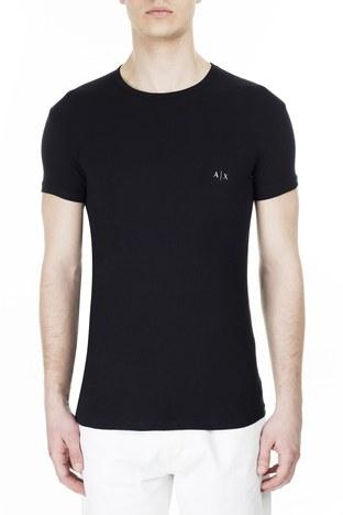 Armani Exchange - Armani Exchange 2 Pack T Shirt Erkek Boxer 956005 CC282 42520 SİYAH-BEYAZ (1)