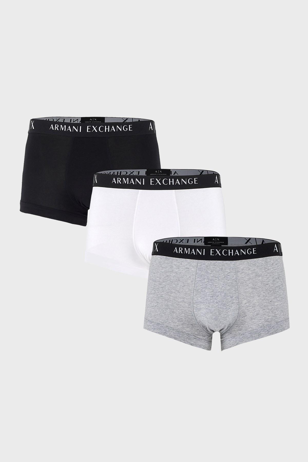 Armani Exchange 3 Pack Erkek Boxer 956000 CC282 49920 SİYAH-BEYAZ-GRİ
