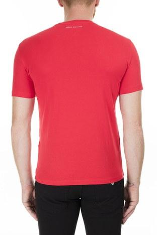Armani Exchange - Armani Exchange Baskı Detaylı Bisiklet Yaka Erkek T Shirt 8NZTCK Z8H4Z 1400 KIRMIZI (1)