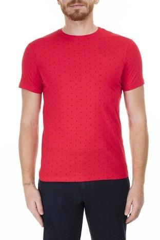 Armani Exchange - Armani Exchange Erkek T Shirt 3HZTFR ZJH4Z 2406 KIRMIZI