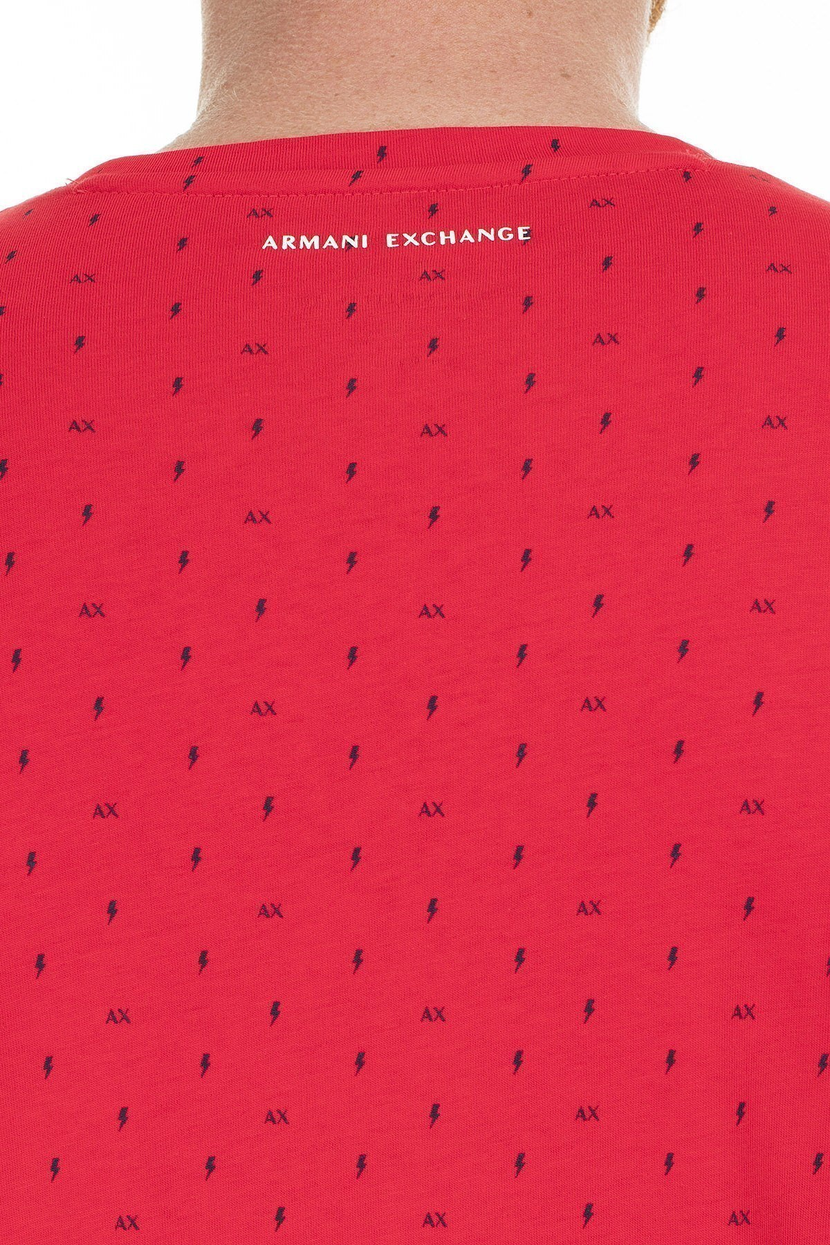 Armani Exchange Erkek T Shirt 3HZTFR ZJH4Z 2406 KIRMIZI