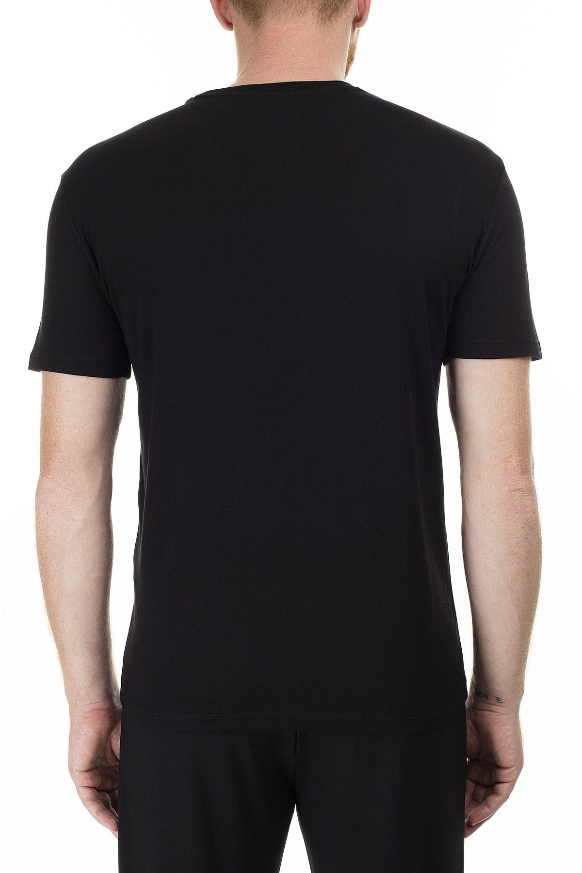 Armani Exchange Baskılı Bisiklet Yaka Erkek T Shirt 3HZTHN ZJH4Z 1200 SİYAH