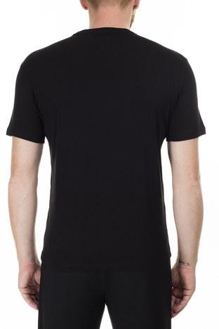 Armani Exchange - Armani Exchange Baskılı Bisiklet Yaka Erkek T Shirt 3HZTLM ZJH4Z 1200 SİYAH (1)
