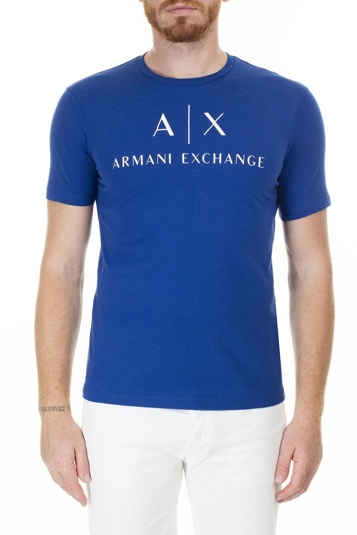 Armani Exchange Baskılı Bisiklet Yaka Erkek T Shirt 8NZTCJ Z8H4Z 1511 SAKS