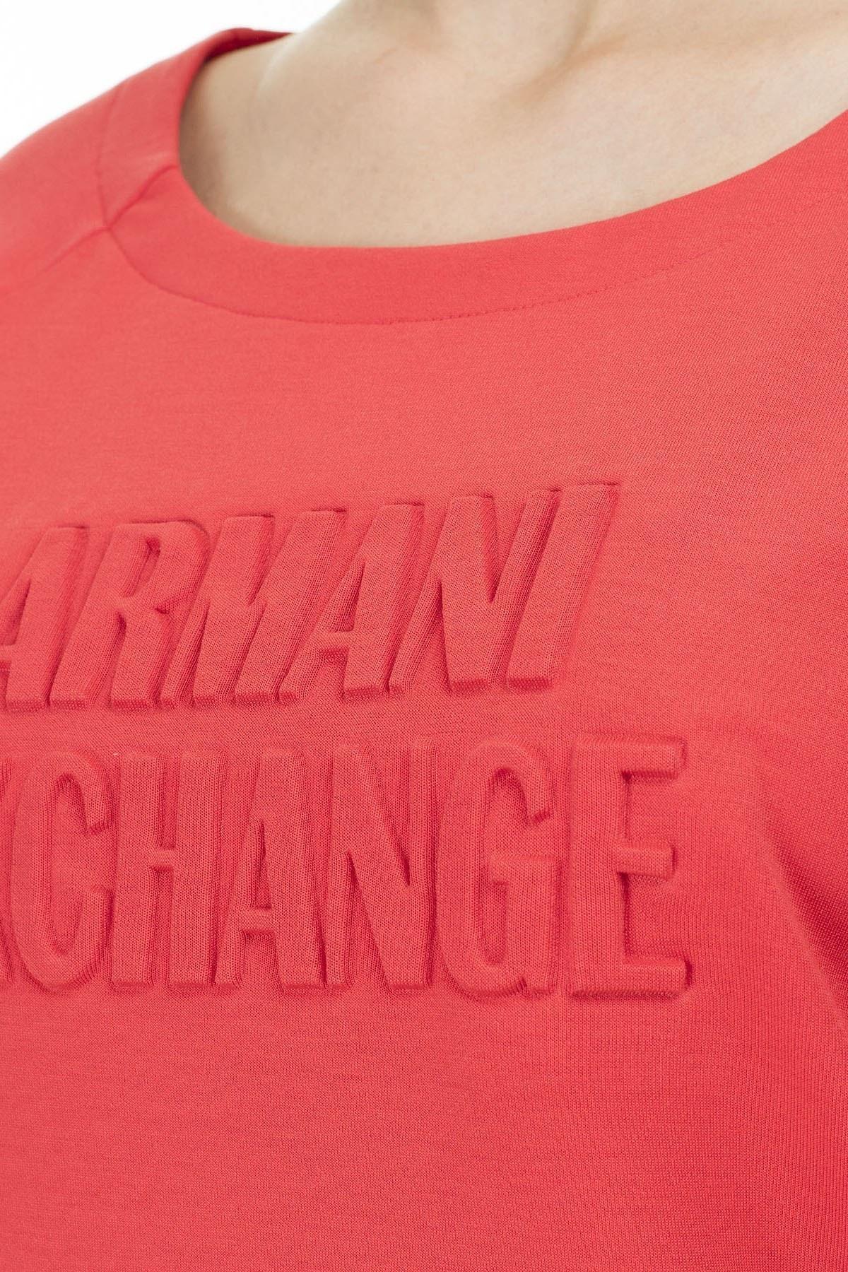 Armani Exchange Baskılı Bisiklet Yaka Kadın Sweat 8NYM76 Y9L7Z 1476 MERCAN