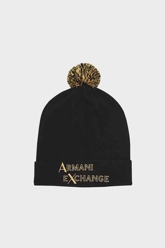 Armani Exchange Baskılı Erkek Bere 6HZ42B ZMS1Z 7241 SİYAH