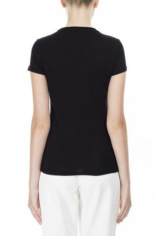 Armani Exchange - Armani Exchange Baskılı Slim Fit Bisiklet Yaka Kadın T Shirt 3HYTAR YJ73Z 1200 SİYAH (1)