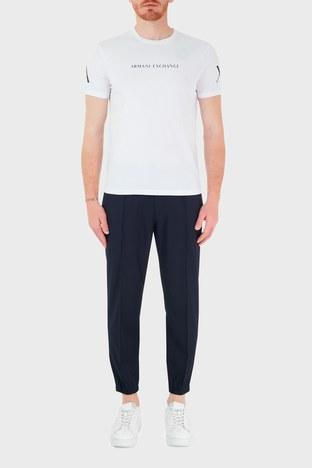 Armani Exchange - Armani Exchange Belden Bağlamalı Regular Fit Erkek Pantolon 8NZPP1 ZNPMZ 85AM LACİVERT