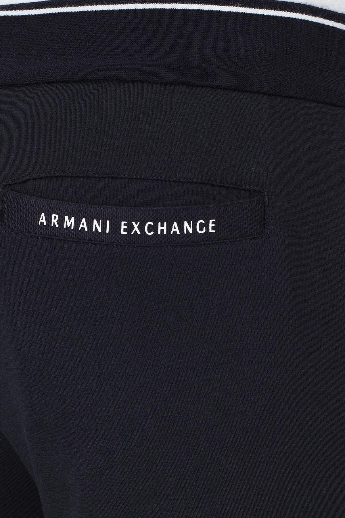 Armani Exchange Beli ve Paçası Lastikli Erkek Eşofman Altı 8NZP82 ZJH3Z 1510 LACİVERT