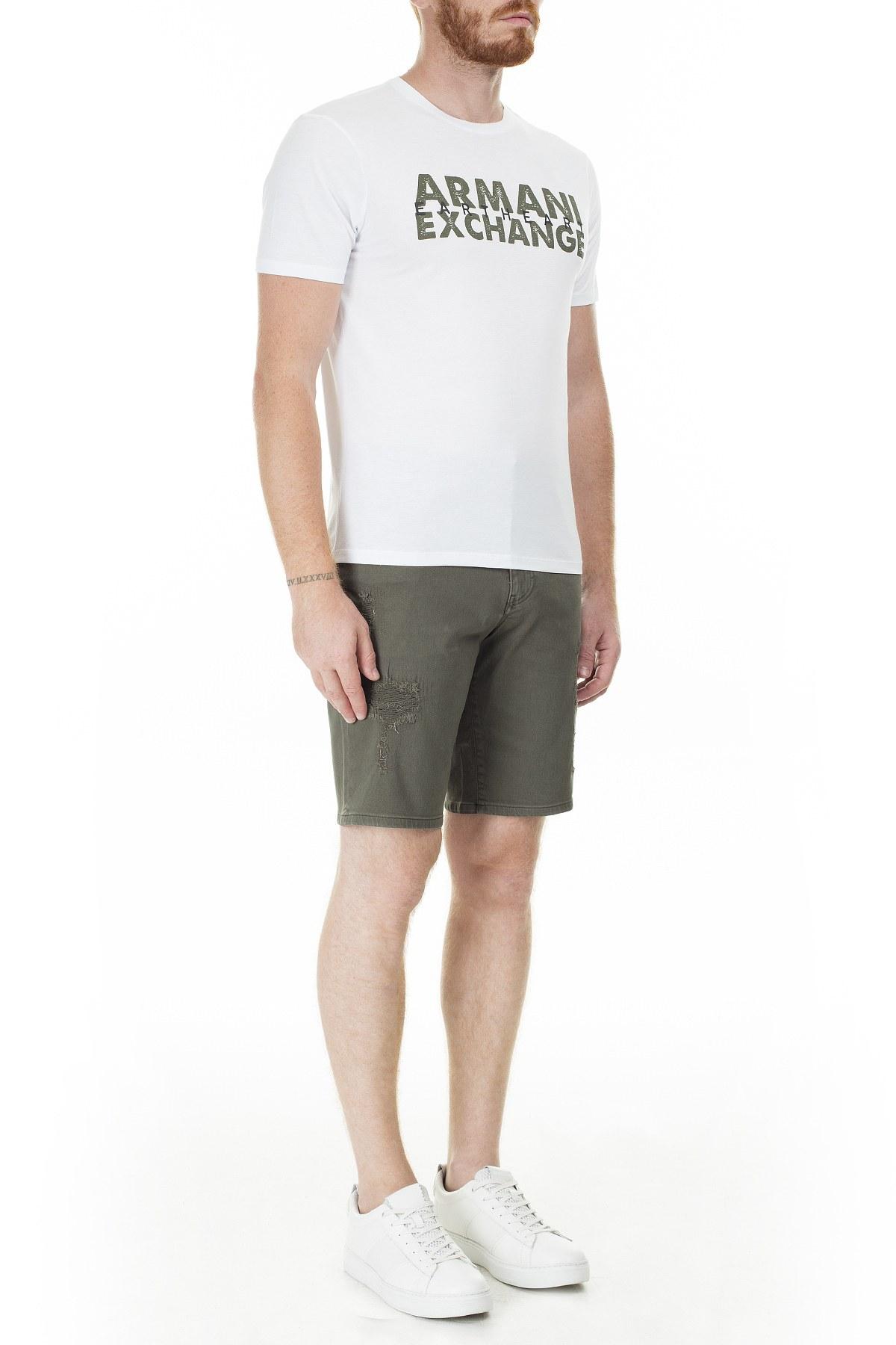 Armani Exchange Cepli Regular Fit Erkek Bermuda 3HZS14 Z1AAZ 1803 YEŞİL