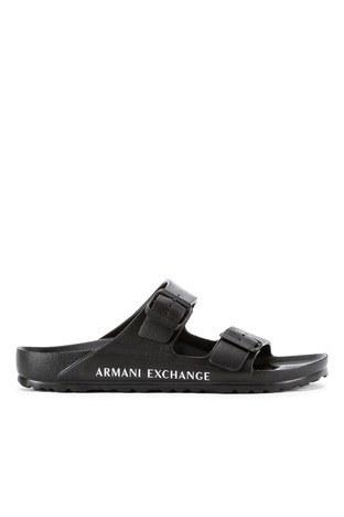 Armani Exchange - Armani Exchange Erkek Terlik XUP006 XV292 N642 SİYAH