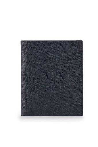 Armani Exchange Deri Erkek Kartlık 958117 CC223 04939 LACİVERT