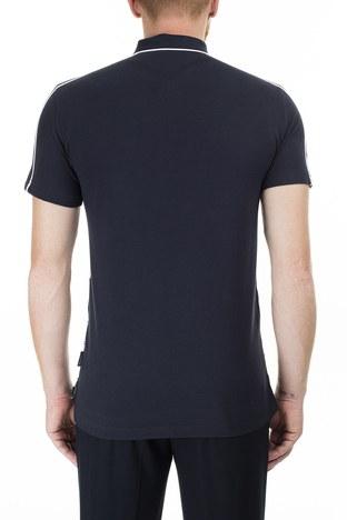 Armani Exchange - Armani Exchange Desenli Regular Fit T Shirt Erkek Polo 3HZFGC ZJM5Z 7180 BEYAZ-LACİVERT (1)