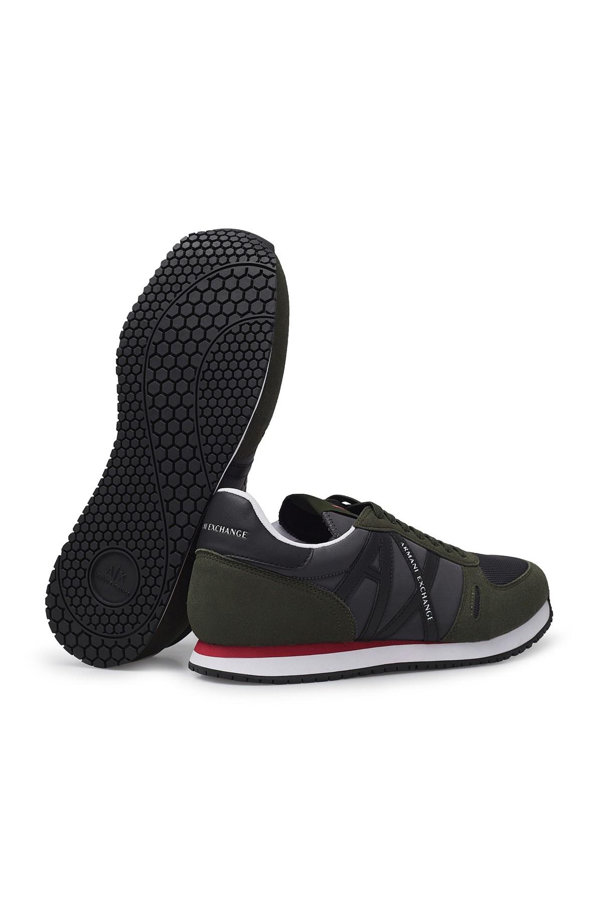 Armani Exchange Erkek Ayakkabı XUX017 XCC68 K498 HAKİ-SİYAH
