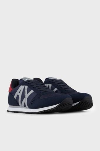 Armani Exchange Logolu Sneaker Erkek Ayakkabı XUX017 XCC68 K585 LACİVERT