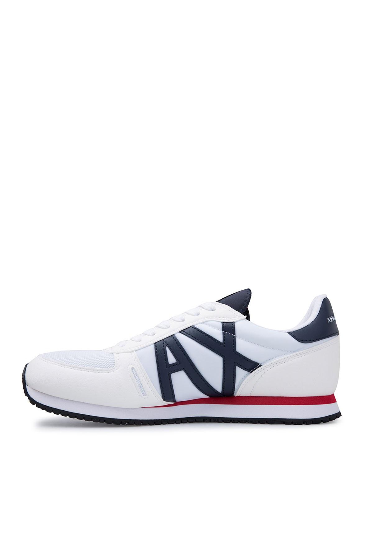 Armani Exchange Erkek Ayakkabı XUX017 XV028 B788 BEYAZ-LACİVERT