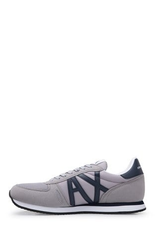 Armani Exchange - Armani Exchange Erkek Ayakkabı XUX017 XV028 D290 GRİ-LACİVERT (1)