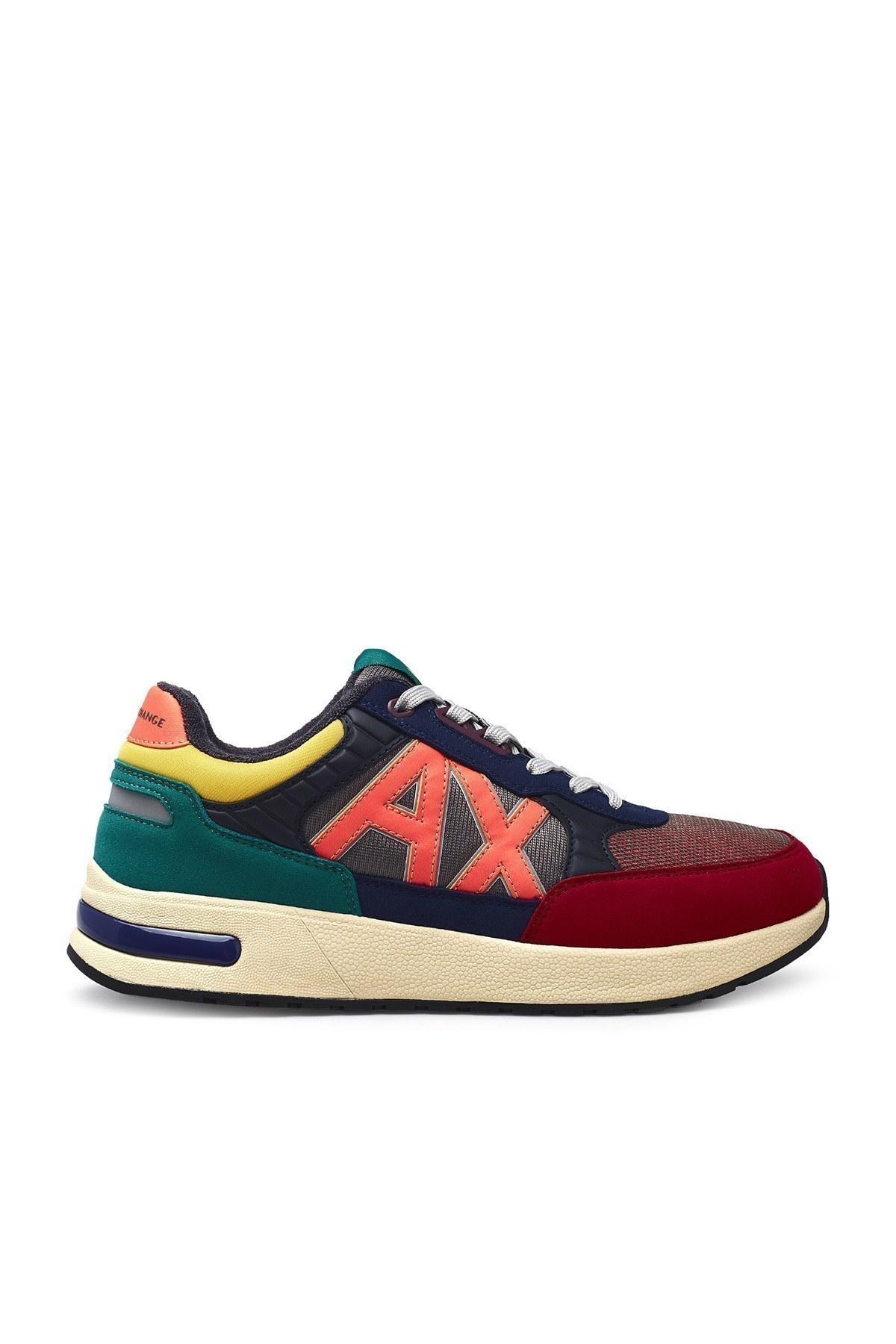 Armani Exchange Erkek Ayakkabı XUX052 XV205 K492 KIRMIZI-MAVİ
