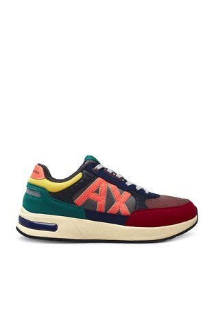 Armani Exchange - Armani Exchange Erkek Ayakkabı XUX052 XV205 K492 KIRMIZI-MAVİ