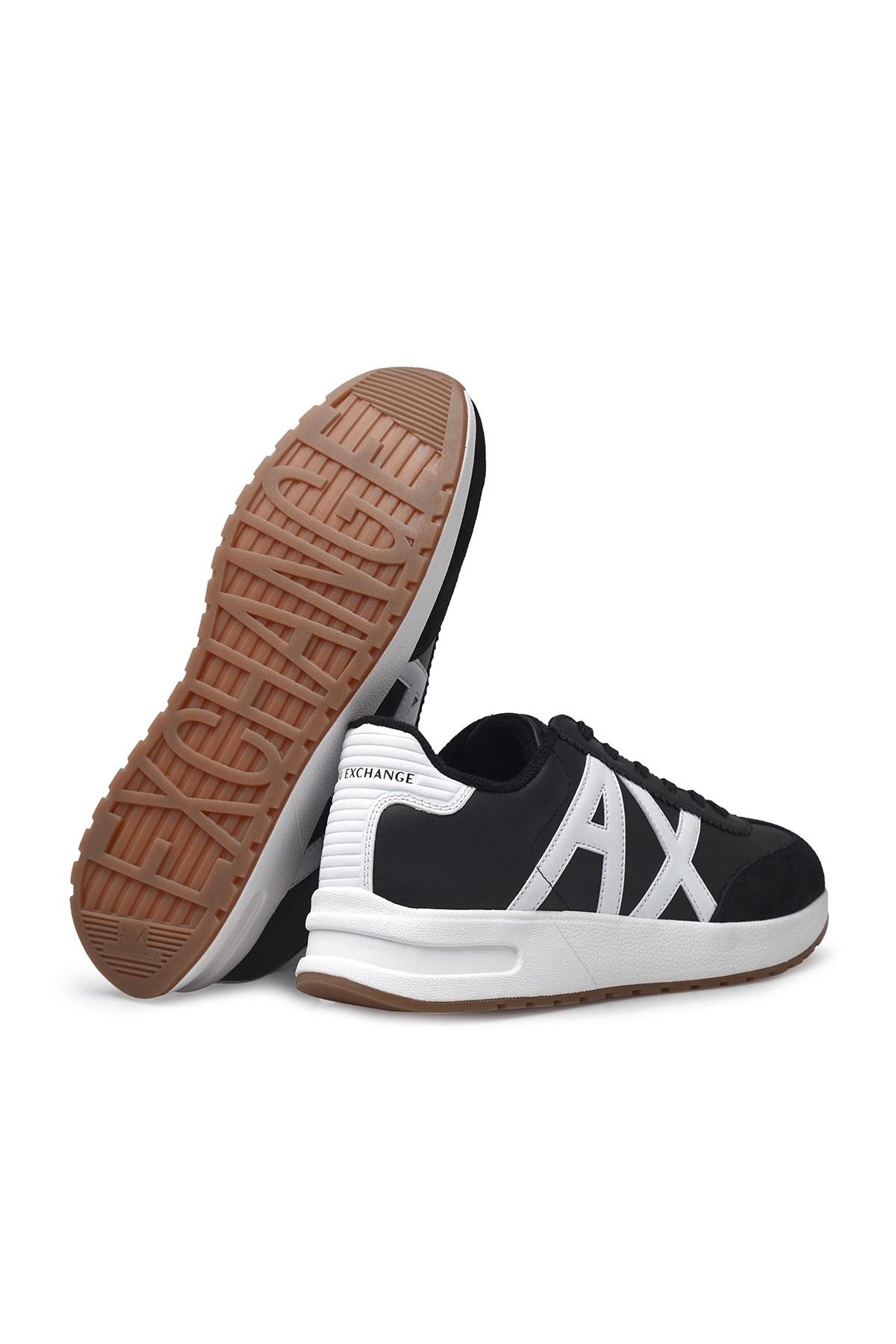 Armani Exchange Erkek Ayakkabı XUX071 XV234 A120 SİYAH-BEYAZ