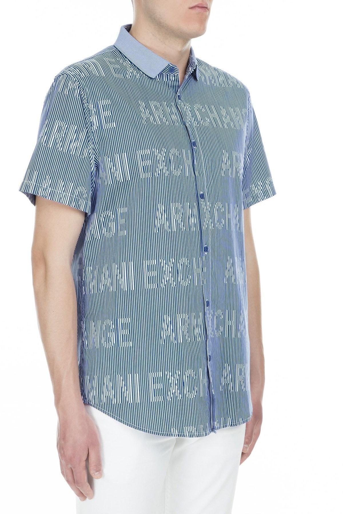 Armani Exchange Erkek Gömlek 3GZC35 ZNEAZ 6538 LACİVERT