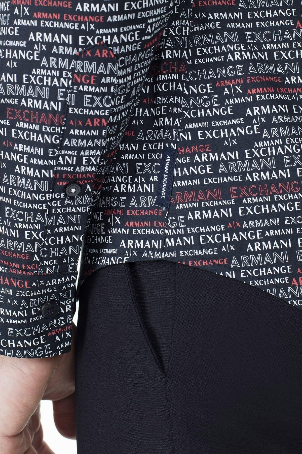 Armani Exchange Erkek Gömlek 3HZC25 ZNEAZ 8542 LACİVERT