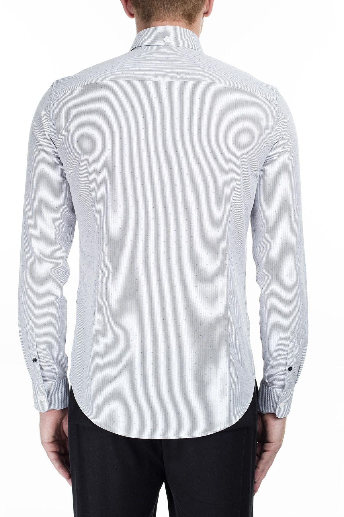 Armani Exchange Erkek Gömlek 6GZC14 ZNMDZ 6166 AÇIK GRİ