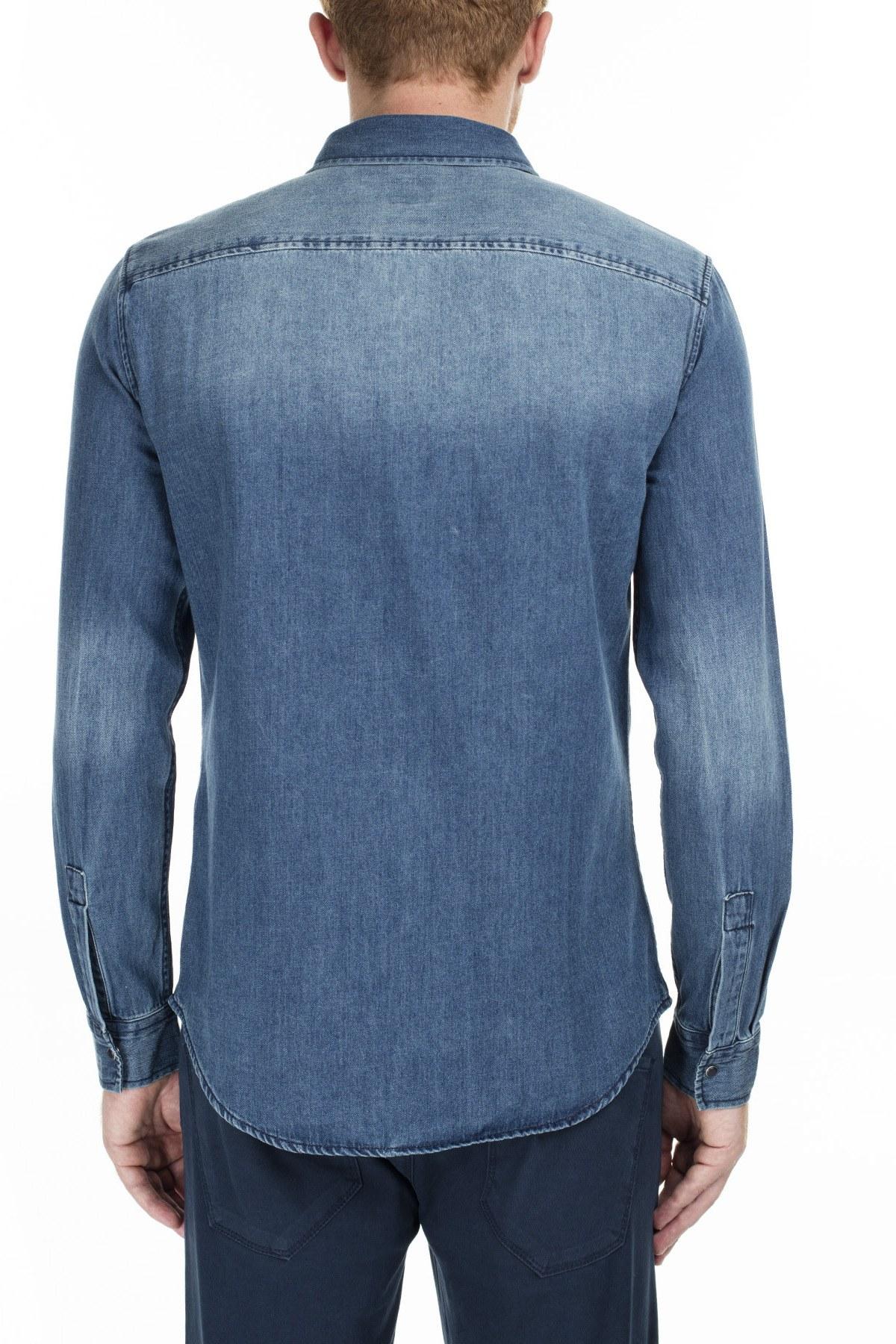 Armani Exchange Erkek Gömlek 6GZC20 Z1K1Z 1500 LACİVERT